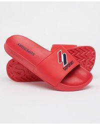 Superdry Chanclas de piscina Core - Rojo