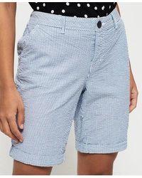Superdry Chino City Shorts - Blue