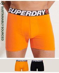 Superdry Pack de 2 calzoncillos bóxer de algodón orgánico - Naranja