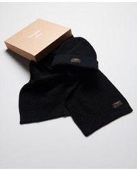 Superdry Conjunto para regalo de gorro y bufanda Stockholm - Blanco