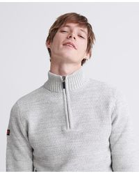 Superdry Keystone Henley Sweater - Gray
