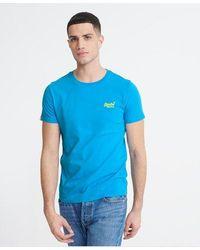 Superdry Orange Label Neon Lite T-shirt - Blue