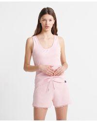 Superdry Organic Cotton Holly Lounge Set - Pink