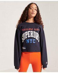 Superdry Sweat à manches chauve-souris Varsity Arch - Bleu