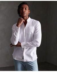 Superdry Camisa Premium University Oxford - Blanco