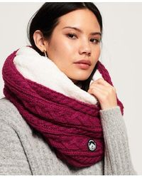 Superdry Gracie Cable Snood - Pink