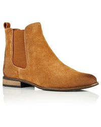 Superdry Millie Suede Chelsea Boots - Brown