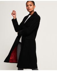 Superdry - New Army Longline Wool Coat - Lyst