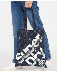 Superdry Calico Tote Bag - Blue