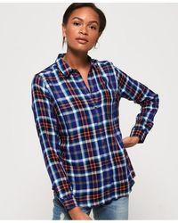 Superdry Camisa de cuadros Anneka - Azul