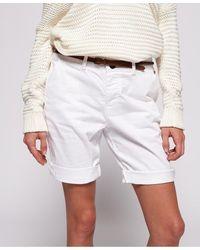 Superdry Pantalones cortos Chino City - Blanco