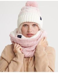 Superdry Clarrie Cable Snood - Pink