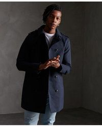 Superdry Edit Rogue Trench Coat - Blue