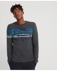Superdry Limited Icarus Colors Blend Long Sleeve T-shirt - Gray