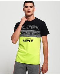 Superdry Trophy Neon T-shirt - Yellow
