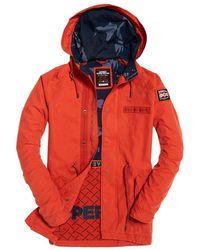 Superdry Aviator Rookie Parka Jacket - Orange