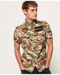 Superdry - Army Tropics Short Sleeve Shirt - Lyst