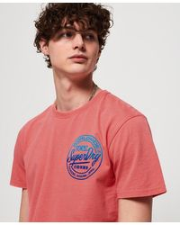 Superdry Ticket Type Oversized Fit T-shirt - Pink
