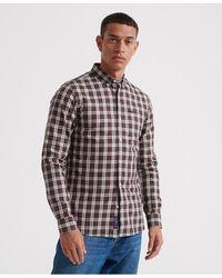 Superdry Classic London Overhemd Met Lange Mouwen - Zwart