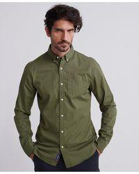 Superdry Classic Twill Overhemd Met Lange Mouwen - Groen