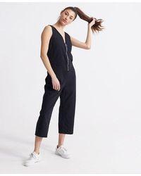Superdry Wide Leg Jumpsuit - Black