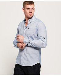 Superdry Camisa Premium University Oxford - Azul