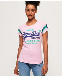Superdry - Shirt Shop Varsity Entry Tee Kniited Tank Top - Lyst