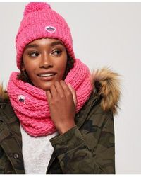 Superdry Clarrie Stitch Snood - Pink