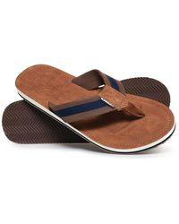 Superdry Cove 2.0 Flip Flops - Brown