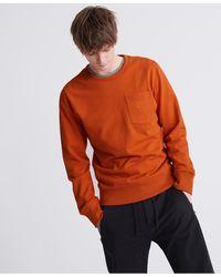 Superdry Denim Goods Co Loopback Sweatshirt Met Ronde Hals - Oranje