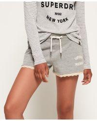 Superdry - Addison Lace Trim Shorts - Lyst