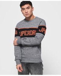 Superdry Retro Stripe Sweatshirt - Grey