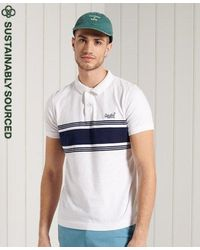 Superdry - Organic Cotton Vintage Chestband Jersey Polo Shirt - Lyst