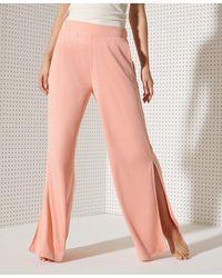 Superdry Sport Pantalon large Flex - Rose