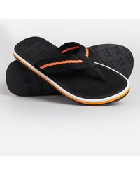 Superdry Chanclas tricolor - Negro