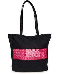 Superdry Holo Repeat Shopper Bag - Black
