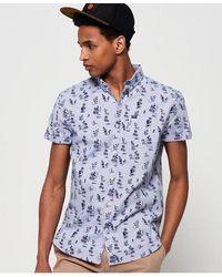 Superdry Premium Shoreditch Short Sleeve Shirt - Blue