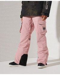Superdry Sport Pantalones cargo Freestyle - Rosa