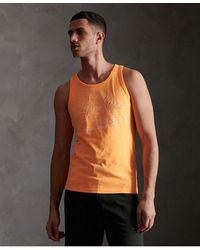 Superdry Camiseta de tirantes con logo Vintage Outline Pop - Naranja