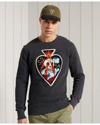 Superdry Limited Edition Chenille Patch Crew Sweatshirt - Black