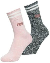 Superdry - Sporty Marl Socks Double Pack - Lyst