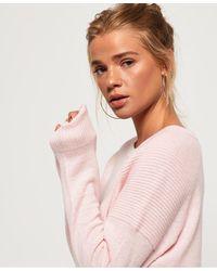 Superdry Bria Raglan Knit - Pink