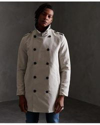 Superdry Edit Rogue Trench Coat - Grey