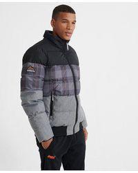 Superdry Track Sports Puffer Jacket - Black