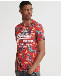 Superdry Super 5's T-shirt - Red