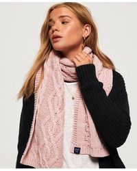 Superdry Arizona Cable Scarf - Pink