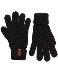 Superdry Guantes North - Negro