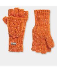 Superdry Gracie Cable Gloves - Orange