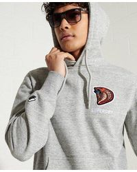 Superdry Sport Modern Franchise Hoodie - Grey
