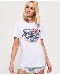 Superdry Women's Super 23 Hawaii T-shirt - White